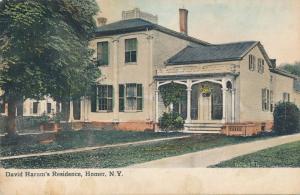 Homer NY, New York - David Harum's Residence - pm 1910 - DB
