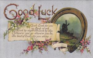Bronze Horseshoe, Windmill, Good Luck for You on Land or Sea 1909