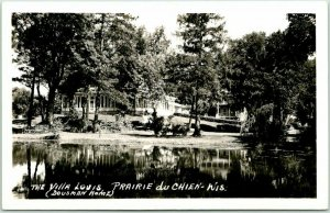 Prairie du Chien, Wisconsin RPPC Photo Postcard THE VILLA LOUIS (Dousman Home)