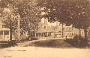 Togus Maine Home Store Street View Antique Postcard K80708