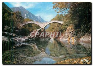 Postcard Modern Lavertezzo Valle Verzasca Ponte dei Salti