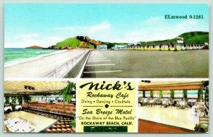 Rockaway Beach California~Nick's Rockaway Cafe~Exterior & Interior Views~1950s