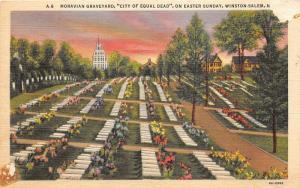 Winston-Salem North Carolina~Moravian Graveyard-God's Acre-Easter Sunday~1943