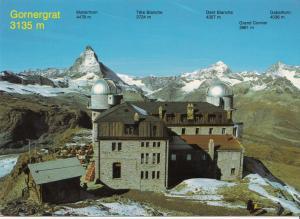 Switzerland, Suisse, Gornergrat 3135 m, 1985 used Postcard