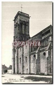 Old Postcard Vezelay Madeleine Church The Western Tower