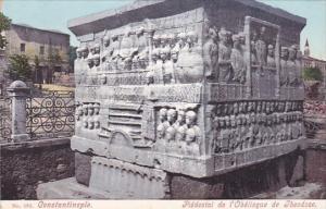Turkey Constantinople Piedestal de l'Obelisqu de Theodose