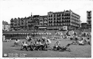 La Digue Belgium~Zeedijk~Knokke s/Mer~Palace Hotel~Tea Room~Beach Chairs~1940s