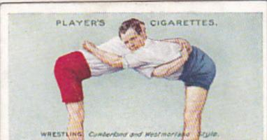 Cigarette Card Player and Sons Wrestling & Ju-Jitsu 1913 No 13 The Hold