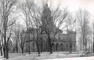 Ithaca Michigan~Gratiot County Court House~1930s Cars~1950s Real Photo~RPPC