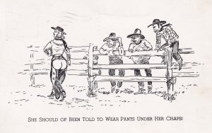 COMIC; PU-1949; She Should Of Been Told To Wear Pants Under Her Chaps!