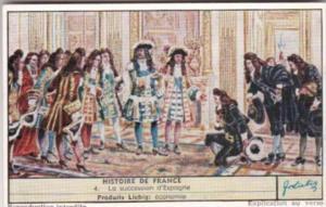Liebig Trade Card S1629 History Of France IX No 4 La succession d'Espagne
