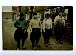 235495 HOLLAND Fishermen Marker 75 years Vintage postcard