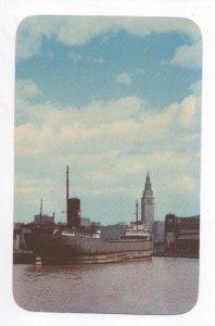 Cleveland Ohio Skyline PC written June 1953 Curteichcolor repro from Kodacrome