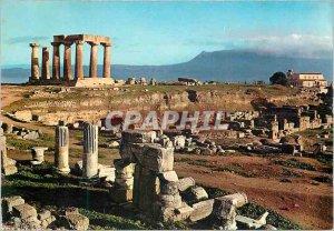 Postcard Modern Corinth (Antique) The Temple of Apollo