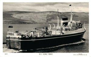 Nautica Ships MV Doric Ferry MV Cedric Ferry & more RPPC Postcard Lot of 3 01.17