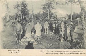 WW1 World War One German prisoners worthing near Rennes France