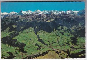 Postcard Switzerland Blick v. Niesenkulm ina Kandertal