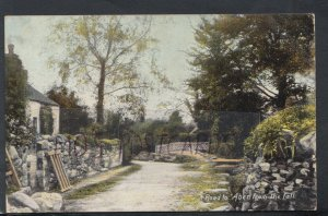 Wales Postcard - Road To Aber From The Fall    RS17211