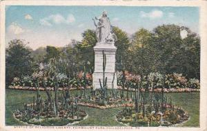 Pennsylvania Philadelphia Statue Of Religious Liberty Fairmount Park 1915