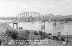 Chamberlain South Dakota~Highway #16~Free South Dakota State Bridge~1940s RPPC