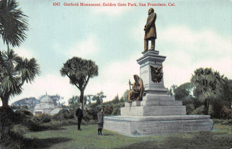 Garfield Monument, Golden Gate Park, San Francisco, CA, early postcard, unused