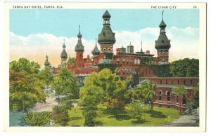 Tampa Bay Hotel, Tampa Florida, The Cigar City, 1910s-1920s unused Postcard