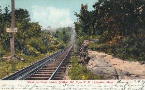 HOLYOKE, Massachusetts, PU-1907; View from Lower Station Mt. Tom Railroad
