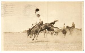 Cowboy Fitzgerald in the Bareback Contest RPC