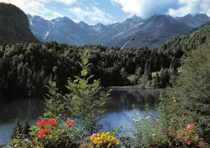 Freibergsee bei Oberstdorf mit Heini Klopfer Skiflugschanze