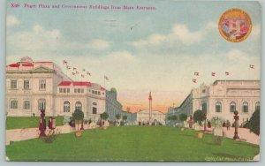 Seattle Washington~Puget Plaza Government Buildings~City Seal~c1910 Postcard
