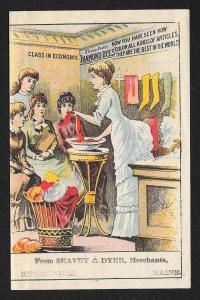 VICTORIAN TRADE CARD Diamond Dyes Seavey & Dyer