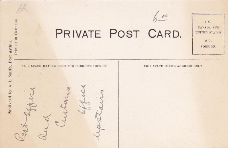 PORT ARTHUR, Ontario, Canada, 1900-1910's; Post Office