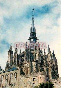 Modern Postcard Mont Saint Michel The Wonder and the Fleche