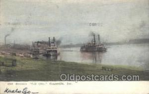 Tell City, Evansville, Indiana, USA Ferry Boats, Ship, Ships, Postcard Post C...