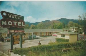 Ukiah,CA VOLL MOTEL State St Roadside Highway 101  Postcard