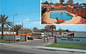 tempe travel trailer villa tempe arizona L4475 vintage postcard