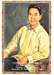 Philippines Old Vintage Antique Post Card Ferdinand E Marcos Sixith President...