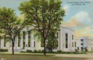 Georgia La Grange Troup County Court House Curteich