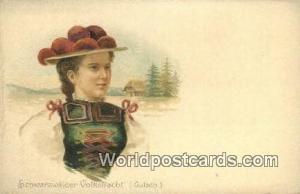 Gulach Germany, Deutschland Postcard Schwarzwalder Volkstracht Gulach Schwarz...