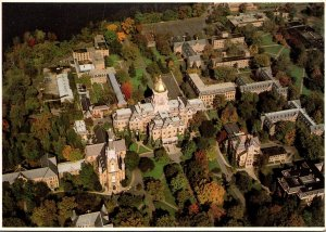 Indiana South Bend University Of Notre Dame The Golden Dome Aerial VIew
