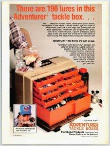 1980 Adventurer Tackle Boxes Vintage  Print Ad  Man Cave F1