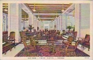 Illinois Chicago East Room Interior Y M C A Hotel Curteich