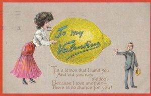 To My VALENTINE , Lemon , 1910 ; TUCK