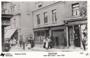 Stratford West Ham Lane Postcard