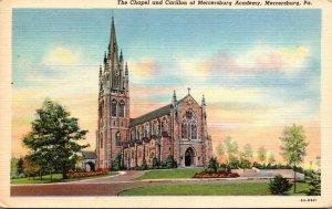 Pennsylvania Mercersburg The Chapel and Carillon Of Mercersburg Academy Curteich