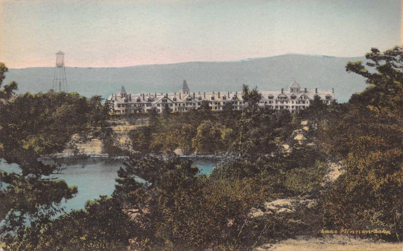 LAKE MINNEWASKA NY~WILDMERE FROM NORTH END CLIFF HOUSE-ALBERTYPE #7~POSTCARD