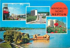 Romania Mangalia nord neptun multi view hotel litoral barca  Postcard