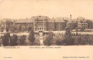 Greensboro North Carolina State Normal College Birdseye View Postcard K81016