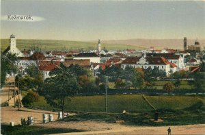 Slovakia Postkarte Kezmarok panorama