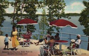 Cherokee State Park KY On Kentucky Lake Linen Vintage Postcard